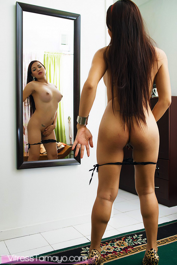 Long hair ladyboy